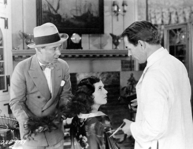 Herbert Brenon rendező A nagy Gatstby (1926) forgatásán