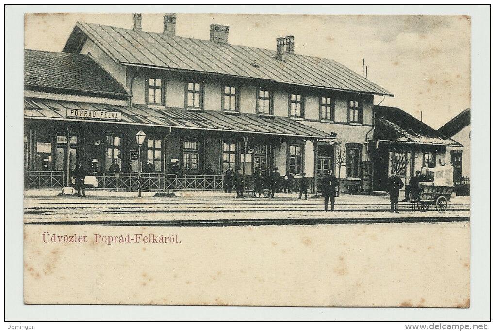Poprádfelka, régi képeslap, Poprád, Krúdy, borovicska