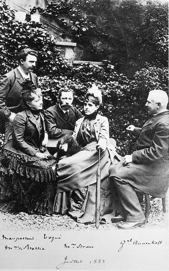 Maupassant társaság, régi francia fotó, francia irodalom