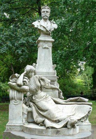 maupassant, parc monceau, paris, Párizs, Monceau park, szobrok