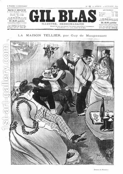 francia irodalom, XIX. századi francia irodalom, Tellier-ház, La maison Tellier