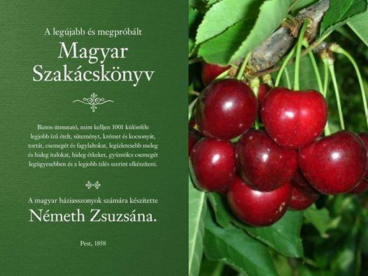 Szakácskönyv, Németh Zsuzsána, Magyar Szakácskönyv, cseresznye, cseresznyekompót