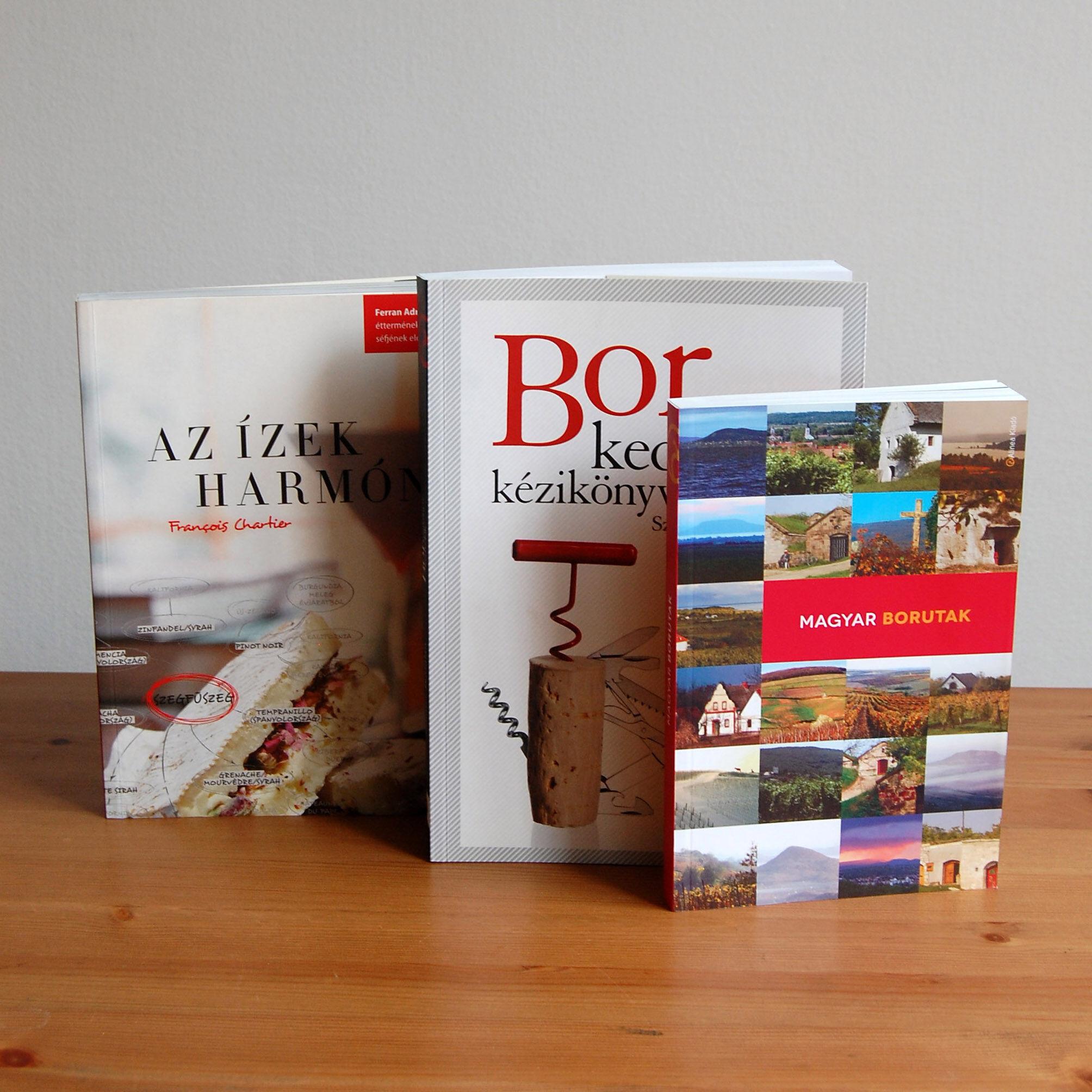 borkedvelőknek könyvek