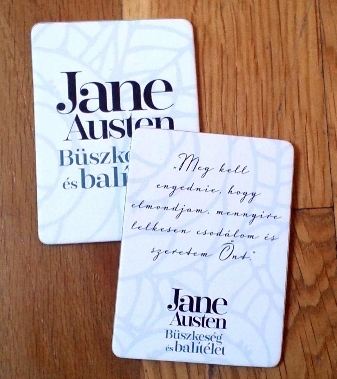 Jane Austen, ajándék, hűtőmágnes, Büszkeség és balítélet