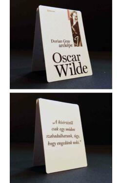 """Mágneses könyvjelző: Oscar Wilde """"Azok a könyvek..."""""""