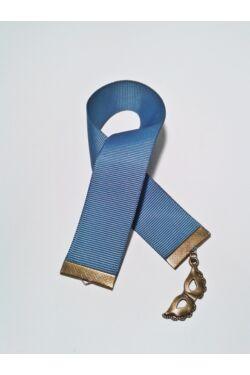 Kék szalagos könyvjelző álarc függővel