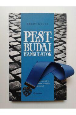 Krúdy Pest-budai hangulatok könyv + Kék szalagos könyvjelző szív függővel