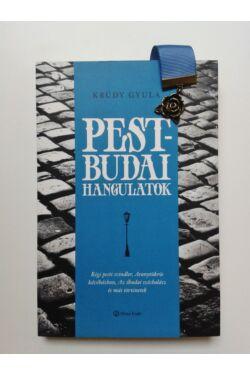 Krúdy Pest-budai hangulatok könyv + Kék szalagos könyvjelző rózsa függővel