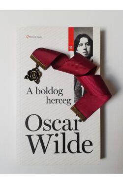 A boldog herceg könyv + Bordó szalagos könyvjelző rózsa függővel