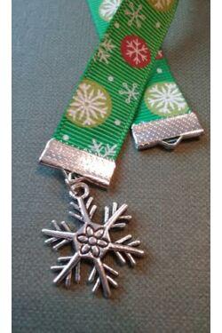 Hópehely függős karácsonyi könyvjelző (utolsó darabok)